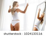 beauty  slimming and people... | Shutterstock . vector #1024133116