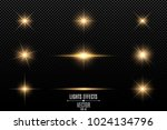 collection of flashes  lights... | Shutterstock .eps vector #1024134796