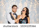 celebration  fun and holidays... | Shutterstock . vector #1024135366