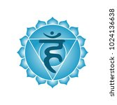 vishuddha chakra icon symbol... | Shutterstock .eps vector #1024136638