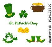 saint patricks day vector... | Shutterstock .eps vector #1024139320