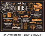coffee restaurant menu. vector... | Shutterstock .eps vector #1024140226