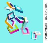 3d colorful frames | Shutterstock .eps vector #1024140406