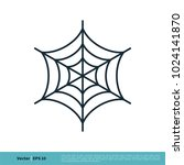 spider web icon vector logo... | Shutterstock .eps vector #1024141870