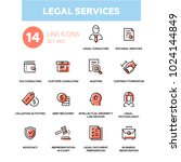 legal services   line design... | Shutterstock .eps vector #1024144849
