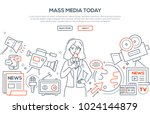 mass media today   modern line... | Shutterstock .eps vector #1024144879