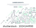 career growth   modern line... | Shutterstock .eps vector #1024144900