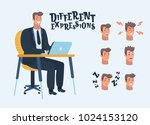 vector cartoon illustration of... | Shutterstock .eps vector #1024153120