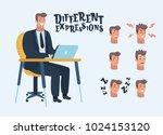 vector cartoon illustration of... | Shutterstock .eps vector #1024153120