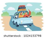 vector cartoon illustration of... | Shutterstock .eps vector #1024153798