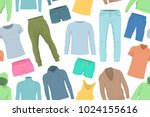 seamless pattern of colorful... | Shutterstock .eps vector #1024155616