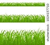 set of green grass elements on... | Shutterstock .eps vector #1024157710