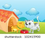 illustration of two cute... | Shutterstock .eps vector #102415900