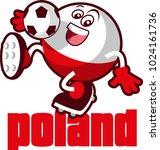 soccer ball mascot | Shutterstock .eps vector #1024161736