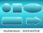 vector cartoon water buttons...