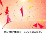 abstract background polygonal.... | Shutterstock . vector #1024163860