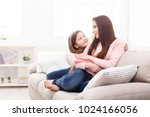 mother with her cute little... | Shutterstock . vector #1024166056