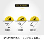 three yellow infographic arcs...   Shutterstock .eps vector #1024171363