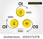 three yellow info circles with... | Shutterstock .eps vector #1024171378