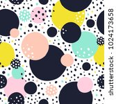 seamless vector pattern with... | Shutterstock .eps vector #1024173658