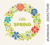 spring   poster with floral... | Shutterstock .eps vector #1024175140