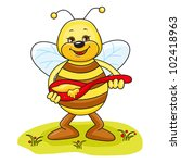 illustration of friendly cute... | Shutterstock .eps vector #102418963