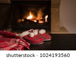 wool warm blanket or plaid and...