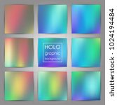 set of trendy holographic... | Shutterstock .eps vector #1024194484