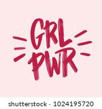 girl power inscription... | Shutterstock .eps vector #1024195720