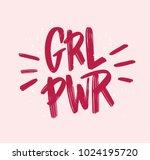 girl power inscription... | Shutterstock .eps vector #1024195720