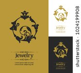 decorative flourishes elegant... | Shutterstock .eps vector #1024199908