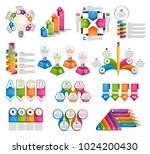big collection infographics.... | Shutterstock .eps vector #1024200430