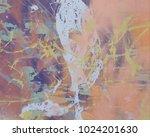 abstract painting. ink handmade ... | Shutterstock . vector #1024201630