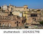 view of trajan market  mercati... | Shutterstock . vector #1024201798