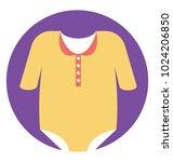 baby romper  newborn baby...   Shutterstock .eps vector #1024206850