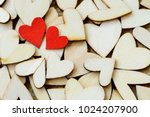 Vintage Style Of 2 Red Hearts...