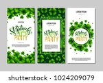 st. patrick's day green party... | Shutterstock .eps vector #1024209079