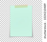 blue empty note paper with... | Shutterstock .eps vector #1024210489