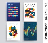 set of vector abstract... | Shutterstock .eps vector #1024213240