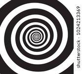 psychedelic spiral. hypnotic... | Shutterstock .eps vector #1024213369