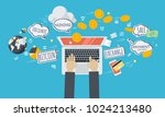 cryptocurrency trading platform.... | Shutterstock .eps vector #1024213480