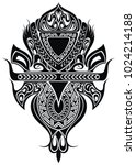 maori style tattoo design  | Shutterstock .eps vector #1024214188