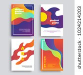 set of vector abstract... | Shutterstock .eps vector #1024214203