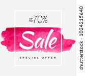watercolor special offer  super ... | Shutterstock .eps vector #1024215640