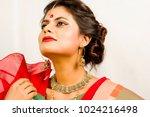beautiful indian female model... | Shutterstock . vector #1024216498