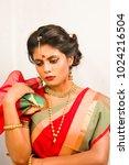 beautiful indian female model... | Shutterstock . vector #1024216504