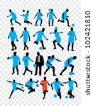 high quality traced posing...   Shutterstock .eps vector #102421810