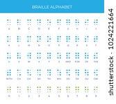 braille english alphabet | Shutterstock .eps vector #1024221664