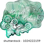 mosaic holiday label with... | Shutterstock .eps vector #1024222159