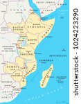 east africa region  political... | Shutterstock .eps vector #1024223290
